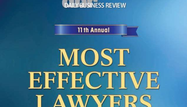 Jay Cohen Named a 2015 DBR Most Effective Lawyers Finalist in Medical Malpractice