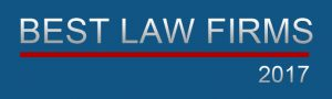 image of Best Law Firms 2017 text on blue background