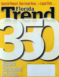 Florida Trend Legal Elite Yellow magazine cover image from August 2014