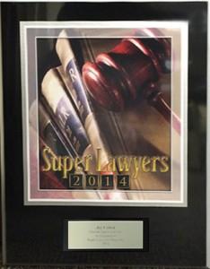 Super Lawyers 2014 plaque image