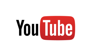 YouTube logo with transparent background
