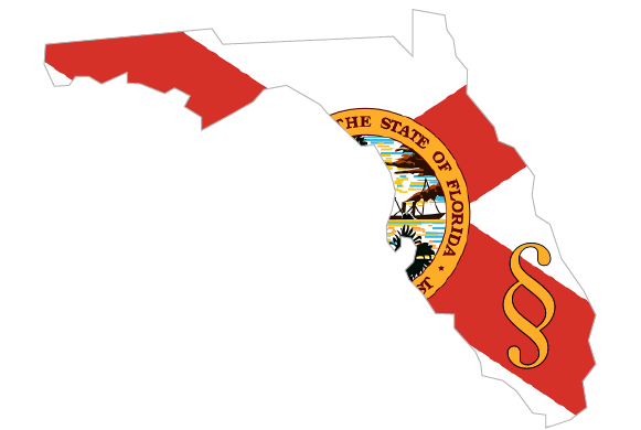 image of the shape of Florida with state flag overlaid on transparent background